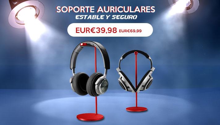 Soporte Universal de Auriculares Cascos H01 Rojo