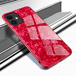 Carcasa Bumper Funda Silicona Espejo T04 para Apple iPhone 11 Rojo