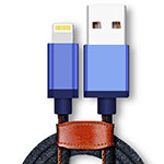 Cargador Cable USB Carga y Datos D01 para Apple iPhone 11 Pro Azul