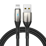 Cargador Cable USB Carga y Datos D09 para Apple iPhone 11 Pro Negro