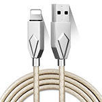 Cargador Cable USB Carga y Datos D13 para Apple iPhone 11 Pro Plata