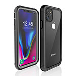 Funda Impermeable Bumper Silicona y Plastico Waterproof Carcasa 360 Grados W02 para Apple iPhone 11 Negro