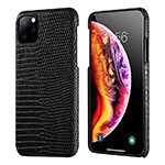 Funda Lujo Cuero Carcasa S04 para Apple iPhone 11 Pro Negro