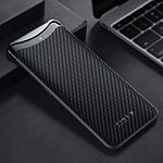 Funda Lujo Fibra de Carbon Carcasa Twill T01 para Oppo Find X Super Flash Edition Negro