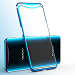 Funda Silicona Ultrafina Carcasa Transparente H02 para Oppo Find X Super Flash Edition Azul