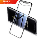 Funda Silicona Ultrafina Carcasa Transparente H03 para Oppo Find X Super Flash Edition Negro