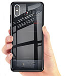 Funda Silicona Ultrafina Transparente T02 para Xiaomi Mi 8 Pro Global Version Negro