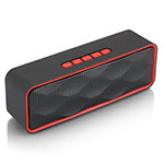 Mini Altavoz Portatil Bluetooth Inalambrico Altavoces Estereo S18 Rojo