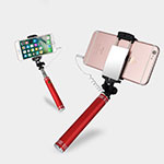 Palo Selfie Stick Extensible Conecta Mediante Cable Universal S20 Rojo