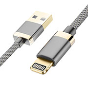 Cargador Cable USB Carga y Datos D24 para Apple iPhone 11 Pro Gris