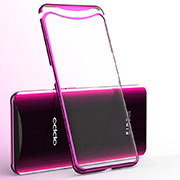 Funda Silicona Ultrafina Carcasa Transparente H02 para Oppo Find X Super Flash Edition Rosa Roja