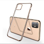 Funda Silicona Ultrafina Carcasa Transparente H03 para Apple iPhone 11 Oro