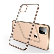 Funda Silicona Ultrafina Carcasa Transparente H03 para Apple iPhone 11 Pro Oro