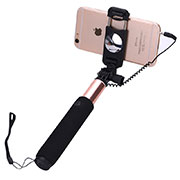 Palo Selfie Stick Extensible Conecta Mediante Cable Universal S04 Oro Rosa