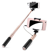 Palo Selfie Stick Extensible Conecta Mediante Cable Universal S11 Oro
