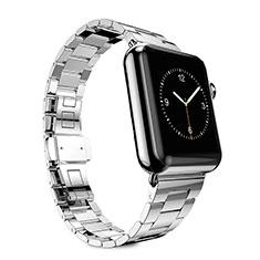 Acero Inoxidable Correa De Reloj Pulsera Eslabones para Apple iWatch 3 38mm Plata