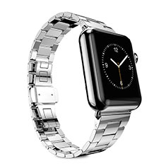Acero Inoxidable Correa De Reloj Pulsera Eslabones para Apple iWatch 4 40mm Plata