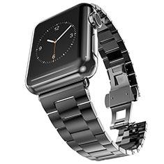 Acero Inoxidable Correa De Reloj Pulsera Eslabones para Apple iWatch 5 44mm Negro