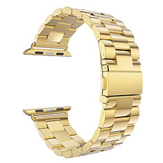 Acero Inoxidable Correa De Reloj Pulsera Eslabones para Apple iWatch 5 44mm Oro