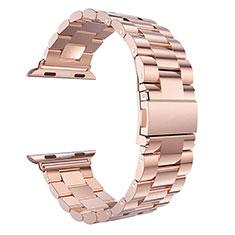 Acero Inoxidable Correa De Reloj Pulsera Eslabones para Apple iWatch 5 44mm Oro Rosa