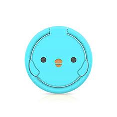 Anillo de dedo Soporte Magnetico Universal Sostenedor De Telefono Movil H18 para Samsung Galaxy S30 Plus 5G Azul Cielo