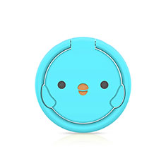 Anillo de dedo Soporte Magnetico Universal Sostenedor De Telefono Movil H18 para LG K92 5G Azul Cielo