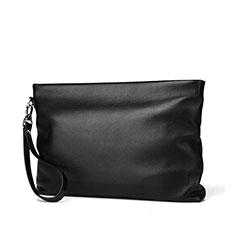 Bolso Cartera Protectora de Cuero Universal H20 para Xiaomi Poco M3 Negro