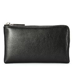 Bolso Cartera Protectora de Cuero Universal H27 para Xiaomi Poco M3 Negro