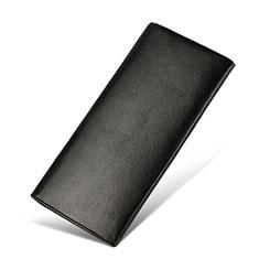 Bolso Cartera Protectora de Cuero Universal H31 para Xiaomi Poco M3 Negro