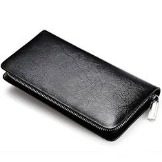 Bolso Cartera Protectora de Cuero Universal H39 para Xiaomi Poco M3 Negro