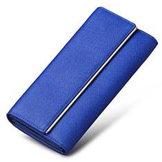 Bolso Cartera Protectora de Cuero Universal K01 para Apple iPhone 11 Pro Azul