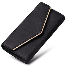 Bolso Cartera Protectora de Cuero Universal K03 para Sony Xperia XA3 Ultra Negro