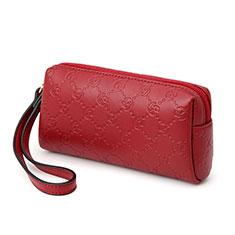 Bolso Cartera Protectora de Cuero Universal K11 para Oneplus 7 Rojo