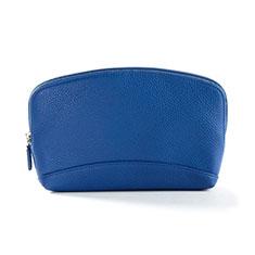 Bolso Cartera Protectora de Cuero Universal K14 para Xiaomi Poco M3 Azul