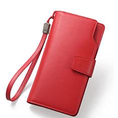 Bolso Cartera Protectora de Cuero Universal Rojo