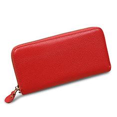 Bolso Cartera Protectora Funda de Cuero Lichee Patron Universal H28 para LG K92 5G Rosa