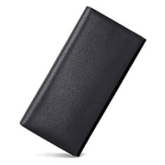 Bolso Cartera Protectora Funda de Cuero Lichee Patron Universal para Sony Xperia XA3 Ultra Negro