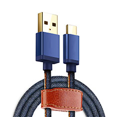 Cable Type-C Android Universal T10 para Samsung Galaxy S21 Plus 5G Azul