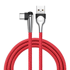 Cable Type-C Android Universal T17 para Samsung Galaxy S21 Plus 5G Rojo
