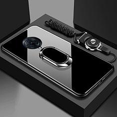 Carcasa Bumper Funda Silicona Espejo con Magnetico Anillo de dedo Soporte para Vivo Nex 3 Negro