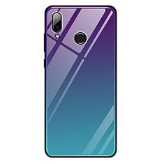 Carcasa Bumper Funda Silicona Espejo Gradiente Arco iris G01 para Huawei Honor Play Multicolor