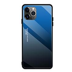 Carcasa Bumper Funda Silicona Espejo Gradiente Arco iris H01 para Apple iPhone 11 Pro Max Azul