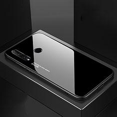 Carcasa Bumper Funda Silicona Espejo Gradiente Arco iris H01 para Huawei Honor 20 Lite Negro