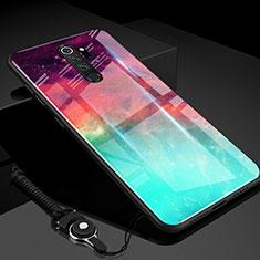 Carcasa Bumper Funda Silicona Espejo Gradiente Arco iris H01 para Xiaomi Redmi Note 8 Pro Verde
