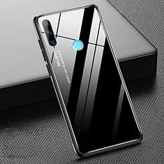Carcasa Bumper Funda Silicona Espejo Gradiente Arco iris H02 para Huawei Honor 20 Lite Negro