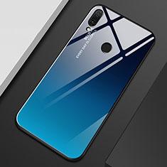 Carcasa Bumper Funda Silicona Espejo Gradiente Arco iris M01 para Huawei Y9 (2019) Azul