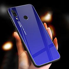 Carcasa Bumper Funda Silicona Espejo Gradiente Arco iris M01 para Xiaomi Redmi Note 7 Pro Azul