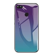 Carcasa Bumper Funda Silicona Espejo Gradiente Arco iris para Huawei Enjoy 7S Multicolor