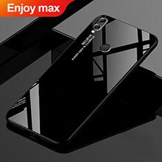 Carcasa Bumper Funda Silicona Espejo Gradiente Arco iris para Huawei Enjoy Max Negro