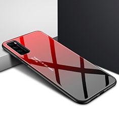 Carcasa Bumper Funda Silicona Espejo Gradiente Arco iris para Huawei Enjoy Z 5G Rojo